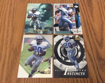 4 Barry Sanders (Detroit Lions) Cards