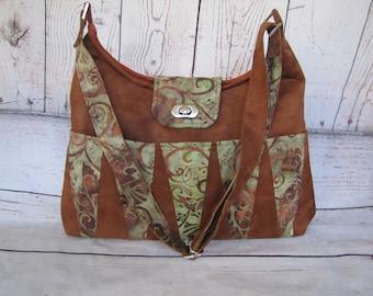Brown Ultra Suede Backgammon Bag