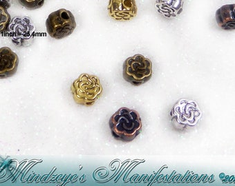 100 Knotted Flower Bead Mix 5mm