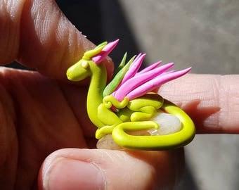 Green Miniature Dragon and Citrine