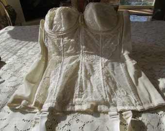 PRICE REDUCED: Vintage Corset With Garters