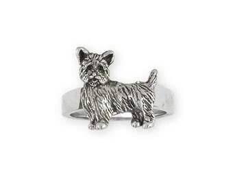 Yorkie Puppy Ring Jewelry Sterling Silver Handmade Dog Ring YK37-R