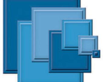 Spellbinders Nestabilities CLASSIC SQUARES Small Cutting DIES S4-128 1.cc03