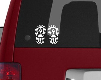Appalachian Trail Boots vinyl decal, AT Boots sticker, Appalachian Trail Sticker, AT Boots decal, Appalachian Trail Thru Hiker decal, AT