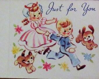 Vintage Gift Tags, Set of 12, Unfolded, Unused