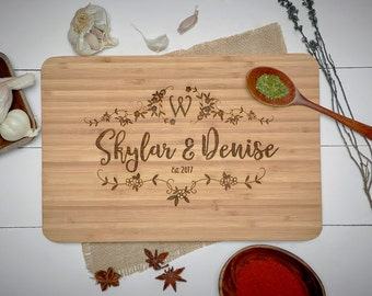 Personalized Cutting Board - Engraved Cutting Board, Custom Cutting Board, Wedding Gift, Housewarming Gift, Anniversary Gift, Engagement #14