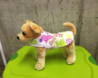 Cheer or Peace/Love Lined Winter Pet Coat.