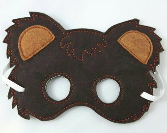 Woodland Mask, Brown Bear Mask