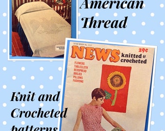 American Thread Knitted and Crocheted