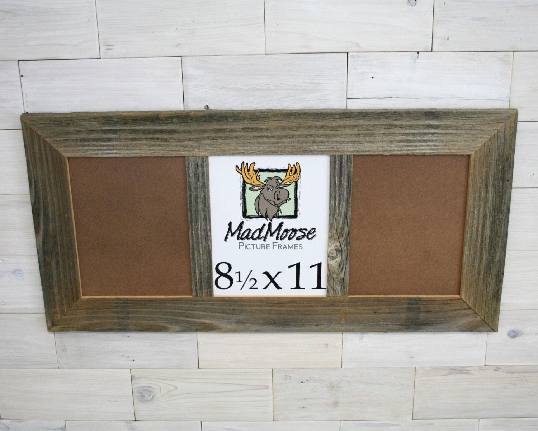 3 pane 85x11 barnwood thin x 3 picture frame