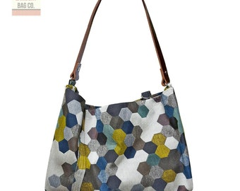 Grey  Hobo Handbag sku#LA001HXGR