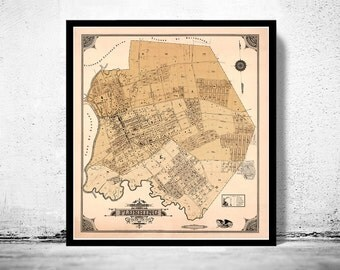 Old Map of Flushing New York 1894
