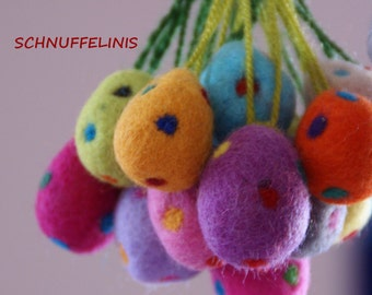 Felted Eggs, Felted eggs - Needle Felt CHOOSE your COLOR -Ready to ship, 100% merino wool