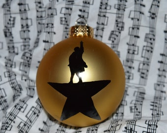 Hamilton Musical Ornament fan Christmas gift Secret Santa Broadway Star logo Theatre SHIPS WEDNESDAY FEDEX fast shipping last minute gift