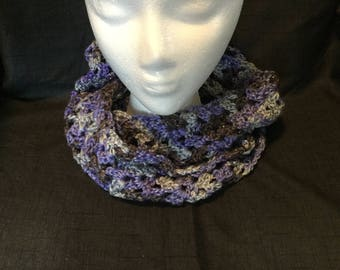 Sparkling Lacey Purple  Scarf
