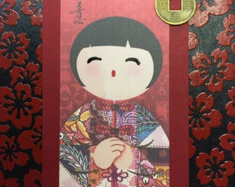 Lovely Little Chinese Doll~ Post It Note Holders