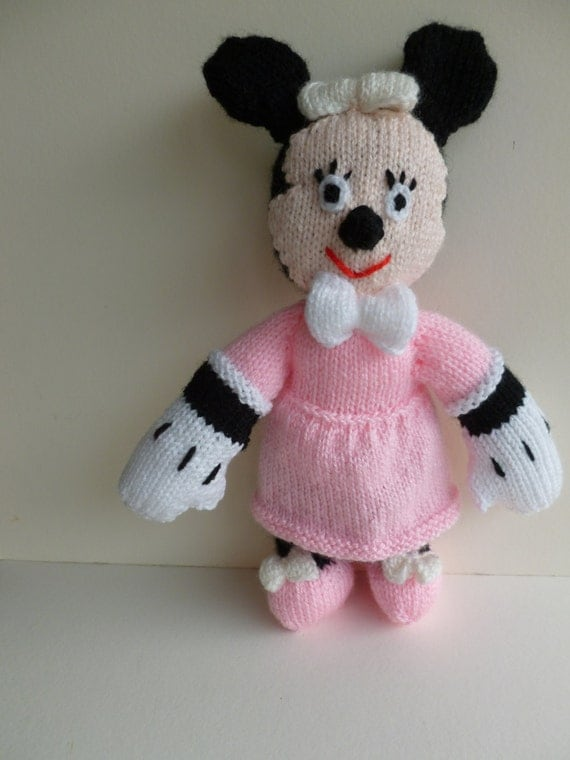 Minnie Mouse Knitted toy.