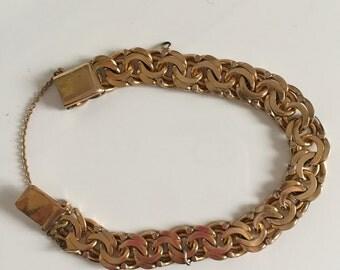Gold Chain Link Bracelet Enchapado