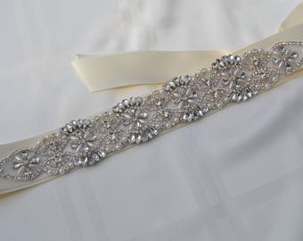 Pearl Crystal Rhinestone Bridal Sash,Bridal sash,Wedding sash,Bridal Accessories,Wedding Accessories,