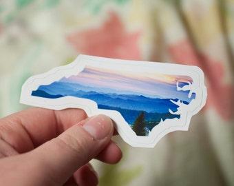 North Carolina Mountains Decal: Laptop Sticker