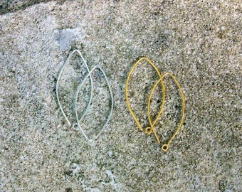 Modern and clean simple earwires, sterling earwires, gold earwires, vermeil earwires, matte gold earwires, silver earwires