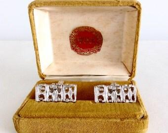 Hickok Cuff Links, Vintage Mens Cufflinks in Original Box, Mens Accessories