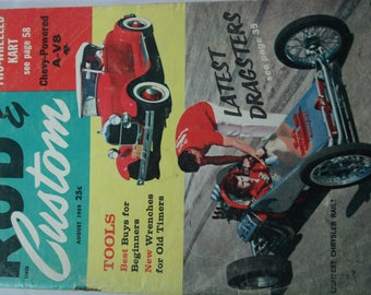 Vintage Car Magazine - Rod and Custom - 1959 - Rat Rods - Go Cart - Ford - Chevrolet - Oldsmobile - A-186
