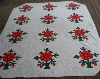 Exquisite!  Handstitched Applique Quilt from Georgia.