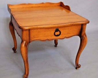 French in the Country Manner by Drexel Lamp Table Night Stand 1 drawer Insured safe nationwide shipping available