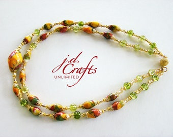 Layered Necklaces, Beaded Necklaces, Paper Bead Necklaces, Paper Bead Jewelry, Paper Necklaces, Short Necklaces, Gold Necklaces