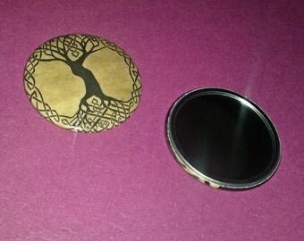 Yggdrasil Pocket Mirror | 2-1/4-inch Pocket Mirror