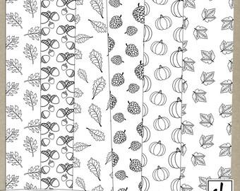 Digital Paper - Pattern Overlays - Digital Patterns - Autumn Overlays - Fall Patterns - Fall Paper - Instant Download - CU OK