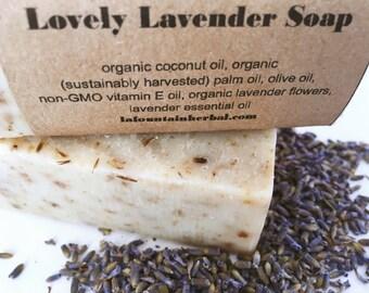 Lovely Lavender Soap, Organic Soap,  Handmade Soap, Essential Oil Soap