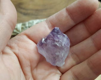Amethyst Point from Brazil ~ 1 small Reiki infused rough crystal approx 1.2x1x.5 inches (Apb45)