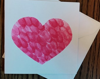Fingerprint heart card