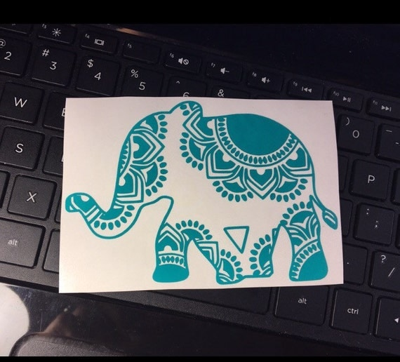Mandala Elephant Elephant Decal Mandala Decal Elephants