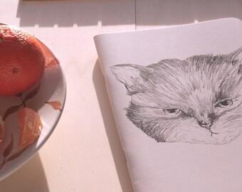 Notebook cat