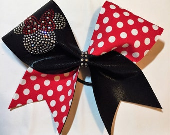 Rhinestone Minnie Mouse Cheer Bow customizable for Worlds  Summit
