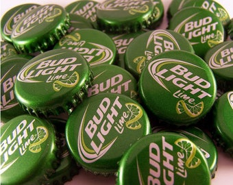 100 Bud Light Lime Bottle Caps for Crafts Bud Light Lime Caps