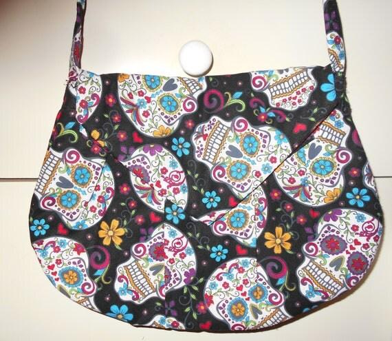 Sugar Skull Pattern Shoulder Bag Purse My Sugar Skulls