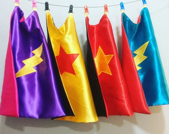 Reversible super hero Cape. Can be personalised