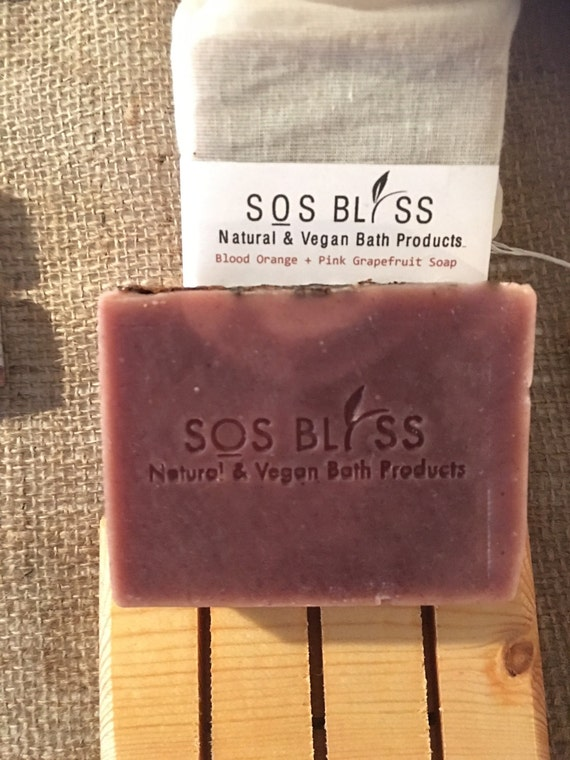 Blood Orange Pink Grapefruit Wholesale Soap Vegan Soap All Natural Gift For Her Organic Soap Citrus Scent Aromatherapy Bar Essential Oil