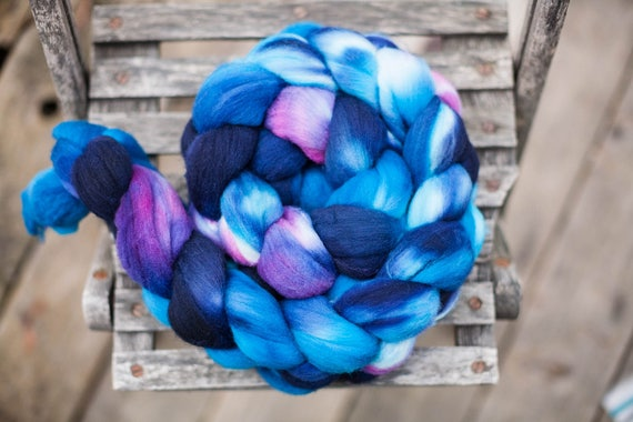 Superfine Merino Hand Dyed Combed Top  Wool Spinning Fiber Roving