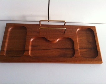 wooden desk storage organizer brass letter holder menu0027s valet tray - Valet Tray