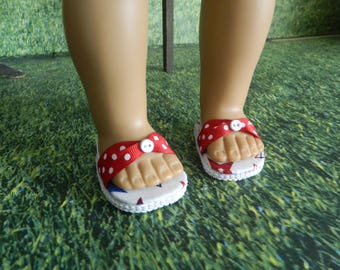 American Girl fitting doll shoes - made for American Girl doll or similar 18 inch doll