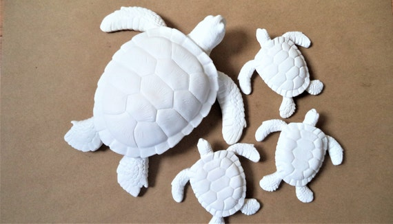 Sea turtle wall hanging sculpture, turtle family, turtle planter, nautical decor, turtle gift