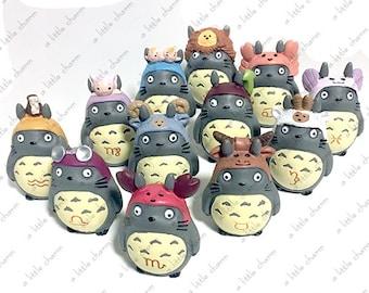 Totoro Zodiac Figures ( Aquarius, Aries, Cancer, Capricorn, Gemini, Leo, Libra, Pisces, Sagittarius, Scorpio, Taurus, Virgo)