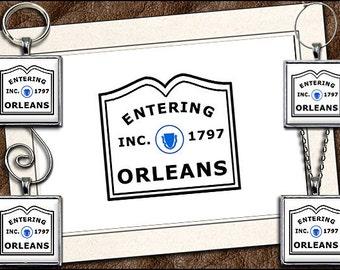 Orleans Note Card Set - Orleans Pendant, Orleans Keyring, Orleans Ornament, Orleans Wine Charm, Cape Cod Note Card Handmade (GP194)