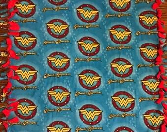 Wonder Woman Fleece Tie Blanket