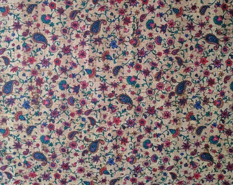 Natural Cork Fabric - Ditty Flowers